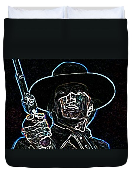 Duvet Cover featuring the painting Clint by Hartmut Jager