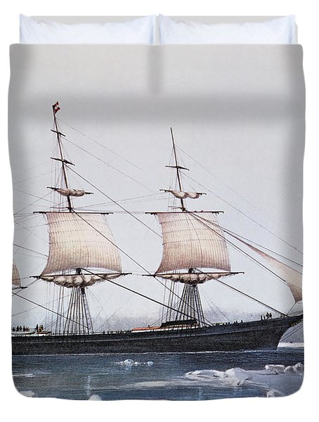 Clipper Ship Red Jacket In The Ice Off Cape Horn On Her Passage From Australia To Liverpool Duvet Cover by American School