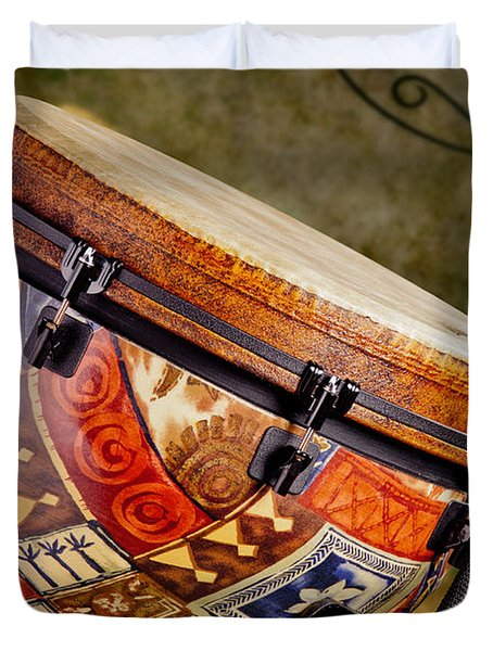 Clissic Djembe African Drum Photograph In Color 3334.02 Duvet Cover