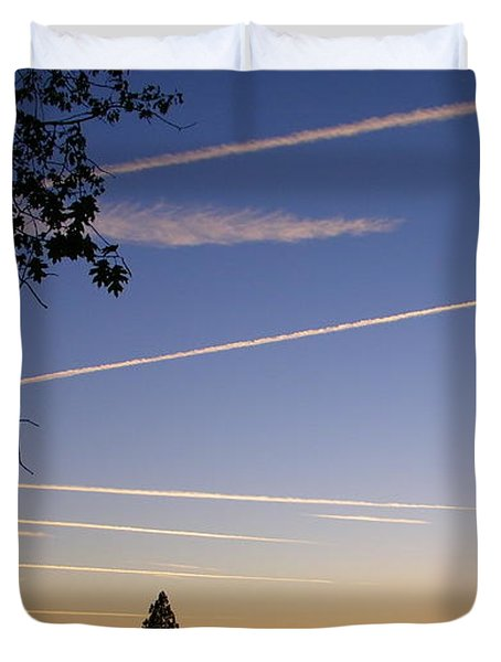 Cloaked Airplanes Duvet Cover