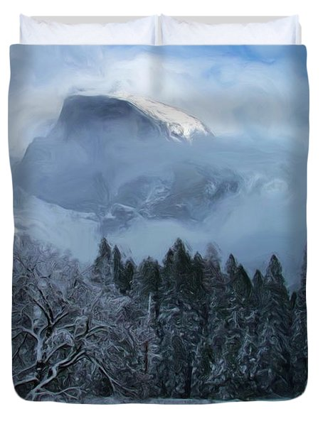 Cloaked In A Snow Storm Duvet Cover by Heidi Smith