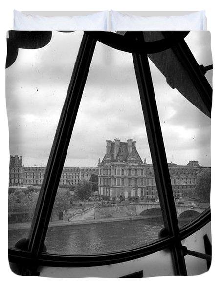 Clock At Musee D'orsay Duvet Cover