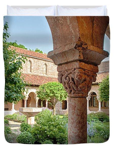 Cloisters Courtyard Duvet Cover