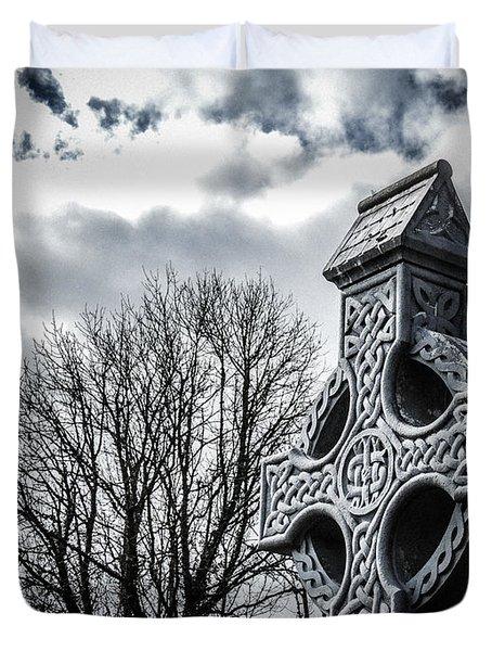 Clondegad Celtic Cross Duvet Cover