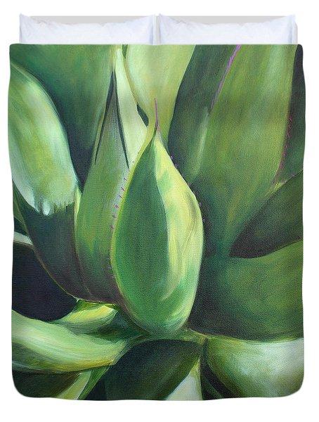 Close Cactus II - Agave Duvet Cover