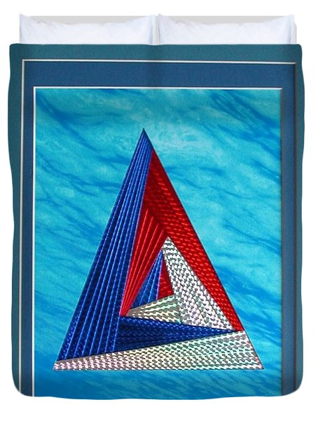 Duvet Cover featuring the mixed media Close Encounter by Ron Davidson
