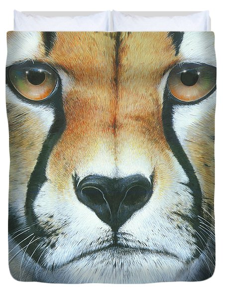 Duvet Cover featuring the painting Close To The Soul by Mike Brown