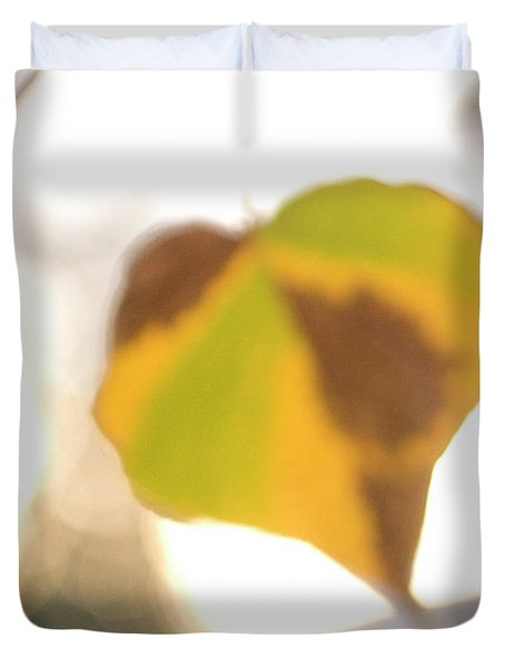 Close-up Of Aspen Leaves In Autumn Duvet Cover