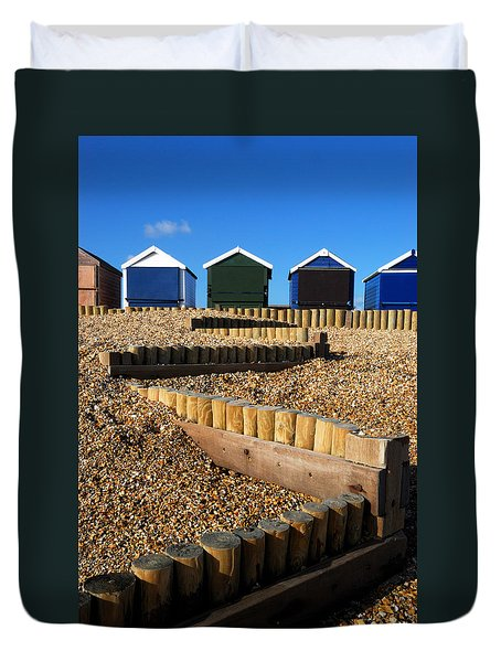 Duvet Cover featuring the photograph Closed For The Winter by Wendy Wilton