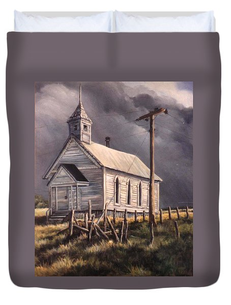 Closed On Sundays Duvet Cover by Donna Tucker