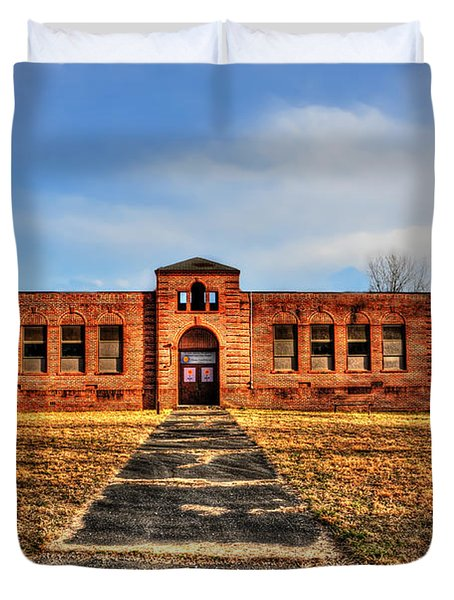 Closed School In Small Town Wv Duvet Cover by Dan Friend