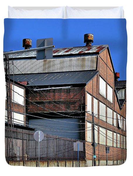 Closed Steel Mill Duvet Cover