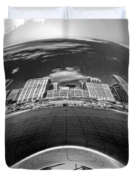 Cloud Gate Under The Bean Black And White Duvet Cover