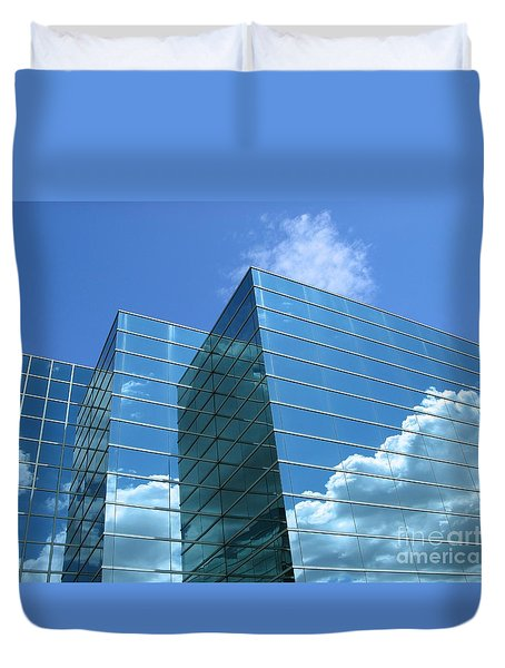 Duvet Cover featuring the photograph Cloud Mirror by Ann Horn