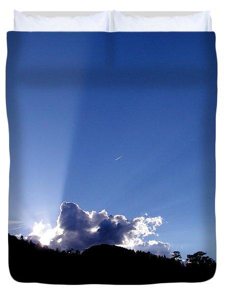 Cloud Rays Duvet Cover by Craig T Burgwardt