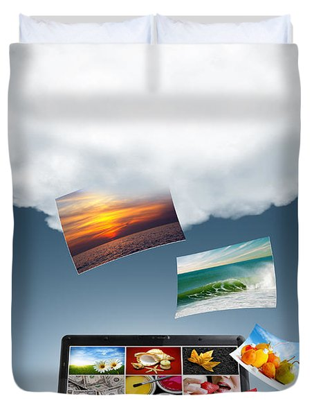 Cloud Technology Duvet Cover by Carlos Caetano