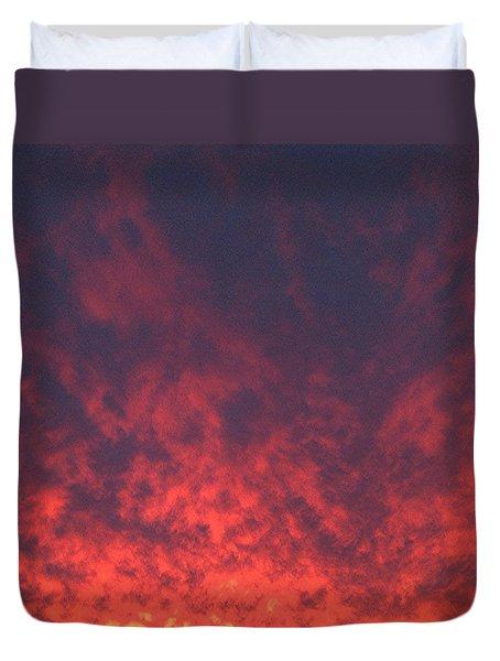 Clouds Ablaze Duvet Cover