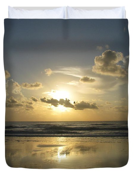 Clouds Across The Sun 2 Duvet Cover by Ellen Meakin