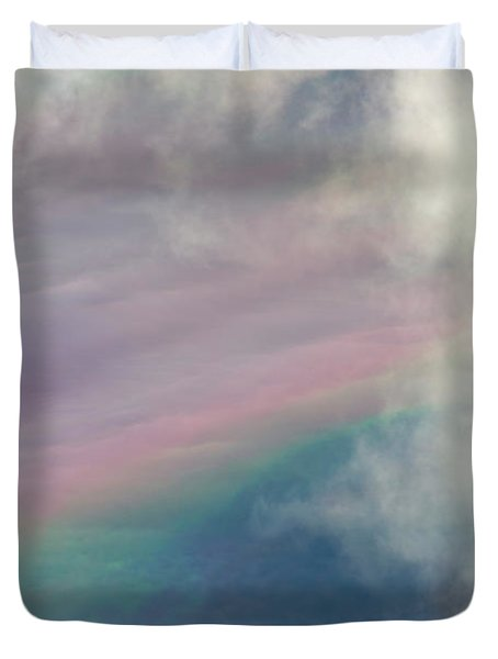 Clouds And Faint Rainbow Denali N P Duvet Cover