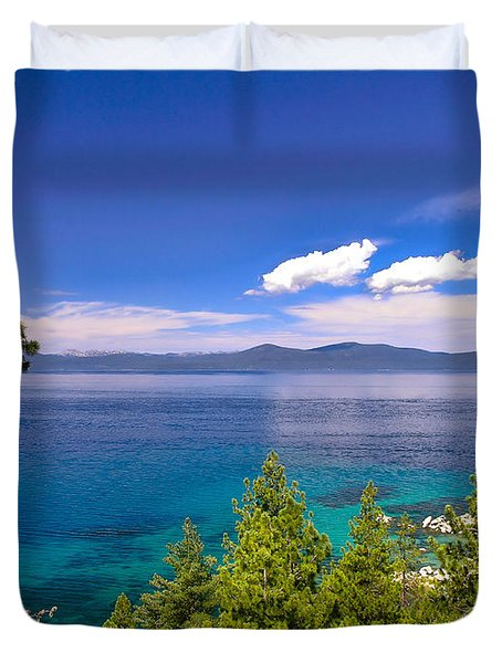 Clouds And Silence - Lake Tahoe Duvet Cover