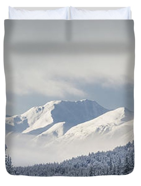 Clouds Clearing From The Kenai Duvet Cover by Kevin Smith