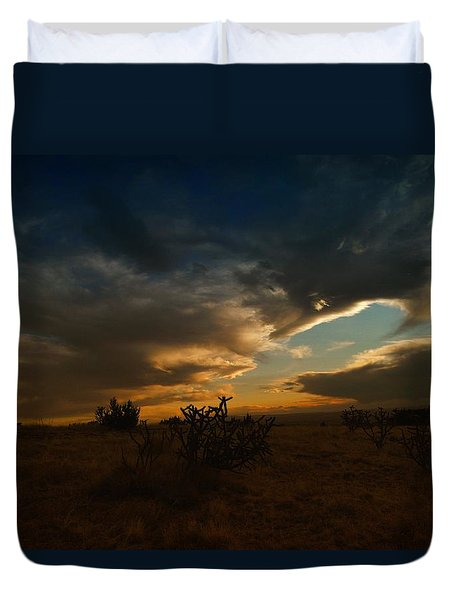 Clouds In New Mexico Duvet Cover by Jeff Swan