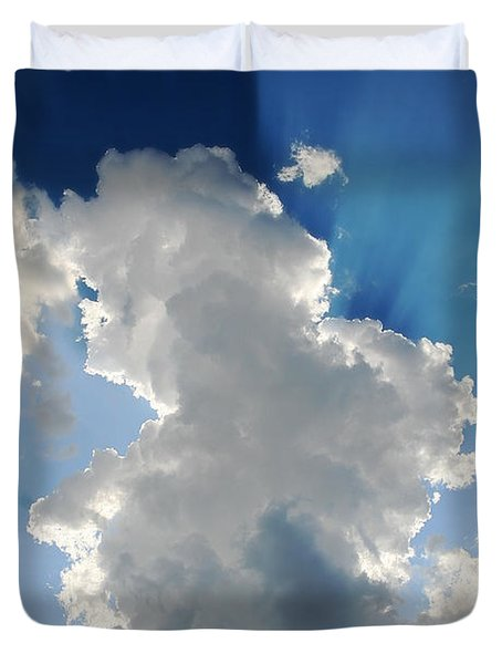 Clouds In The Sun Duvet Cover