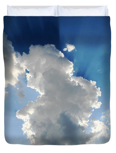 Clouds In The Sun Duvet Cover