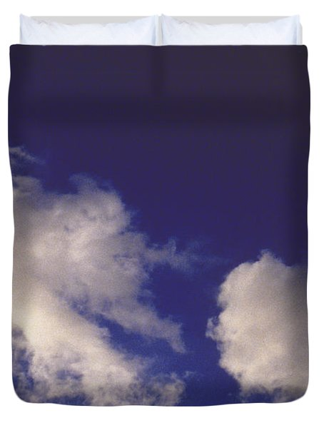 Duvet Cover featuring the photograph Clouds by Mark Greenberg