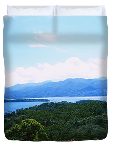 Clouds Over A Volcano, Arenal Volcano Duvet Cover by Panoramic Images
