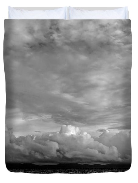 Clouds Over Alabat Island Duvet Cover