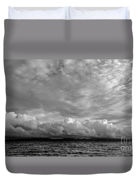 Clouds Over Alabat Island Duvet Cover