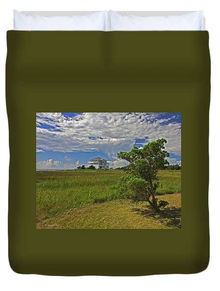 Clouds Over Hatteras Duvet Cover