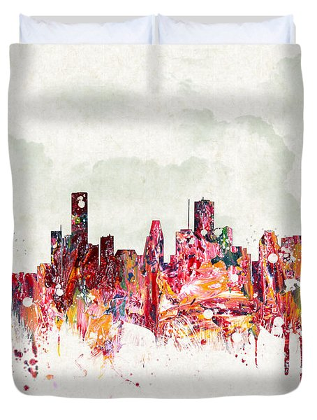 Clouds Over Houston Texas Usa Duvet Cover by Aged Pixel