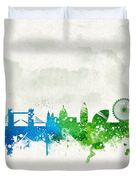 Clouds Over London England Duvet Cover by Aged Pixel