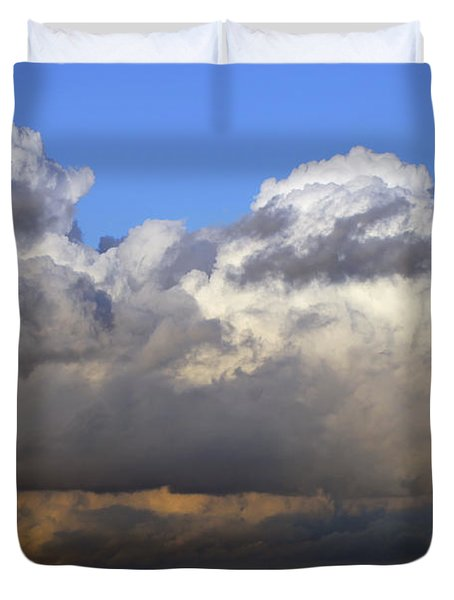 Clouds Over Portsmouth Duvet Cover