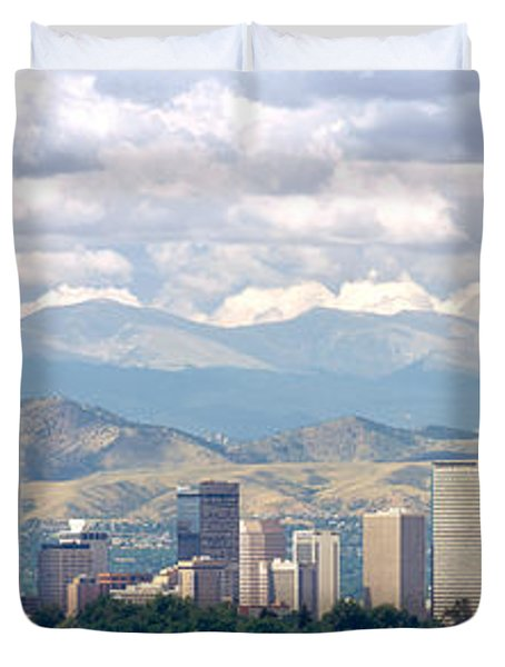 Clouds Over Skyline And Mountains Duvet Cover