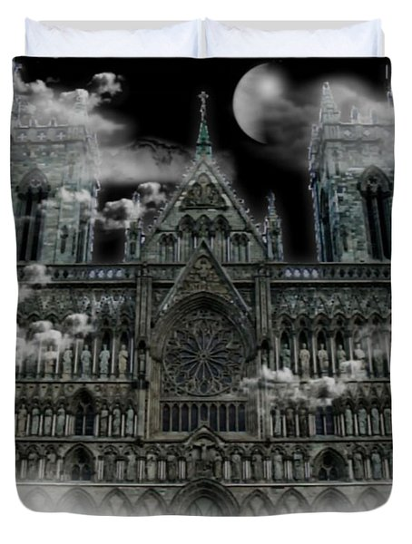 Cloudy Cathedral Duvet Cover