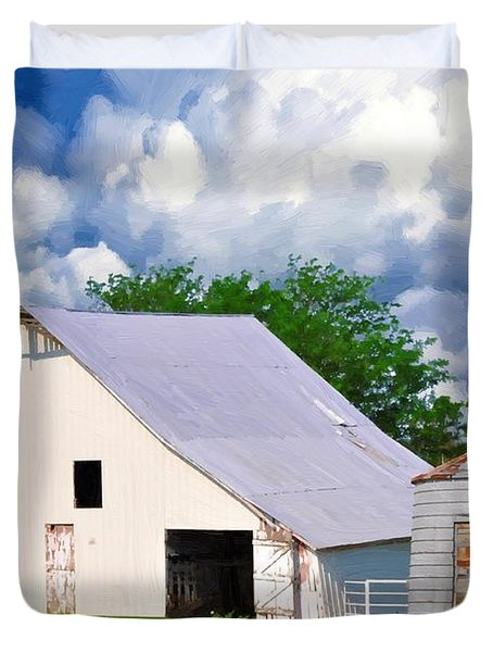 Cloudy Day In The Country Duvet Cover by Liane Wright