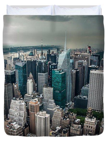 cloudy Manhattan Duvet Cover by Hannes Cmarits
