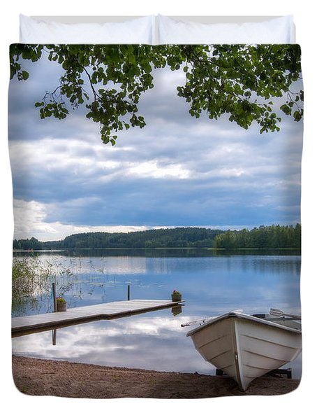 Cloudy Summer Day Duvet Cover