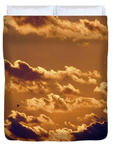 Key West Cloudy Sunset Duvet Cover