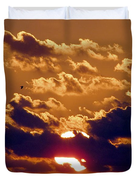 Key West Cloudy Sunset Duvet Cover