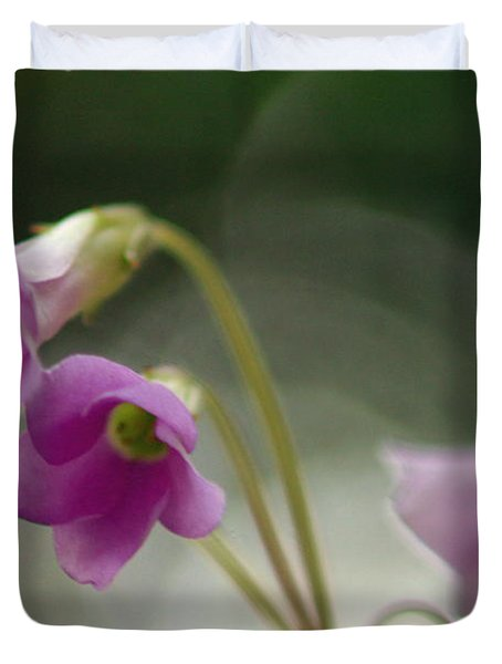 Duvet Cover featuring the photograph Clover Bells by Greg Allore