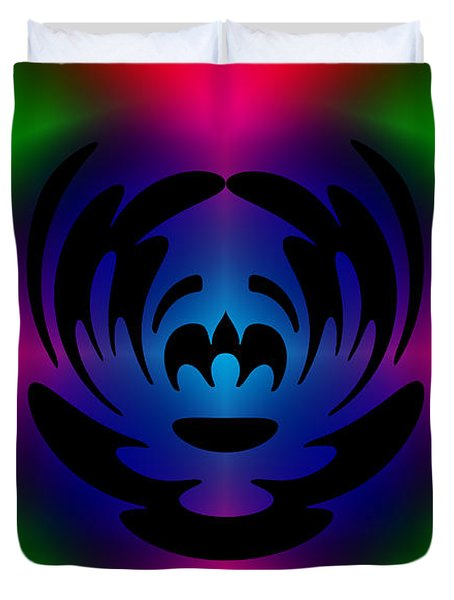 Clown In Color Duvet Cover by Steve Purnell