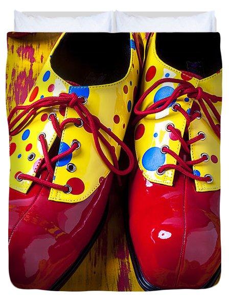Clown Shoes And Balls Duvet Cover