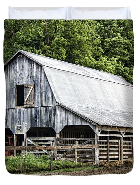 Clubhouse Road Barn Duvet Cover by Cricket Hackmann