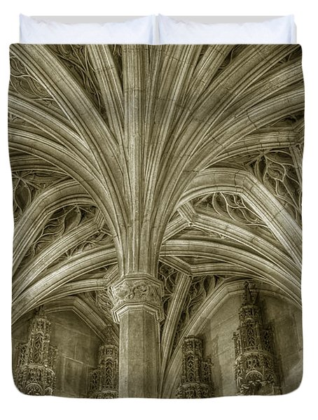 Cluny Museum Ceiling Detail Duvet Cover