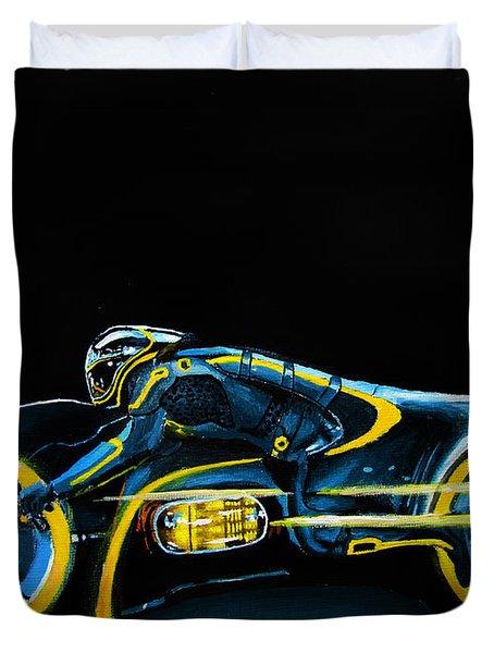 Clu's Lightcycle Duvet Cover by Kayleigh Semeniuk