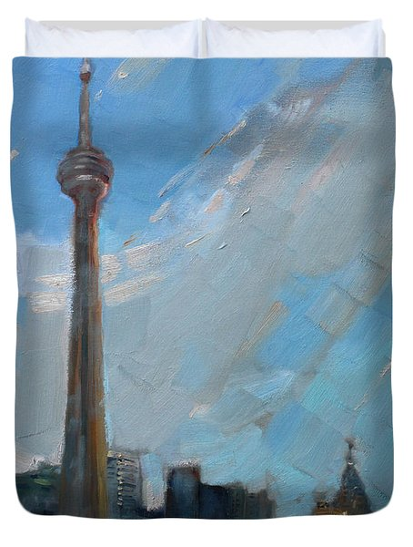Cn Tower Toronto Duvet Cover